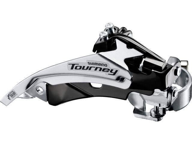 Shimano Tourney FD-TY510 Forskifter Klemme Top Swing 63-66° 6/7-speed sort/sølv (2019) | Front derailleur